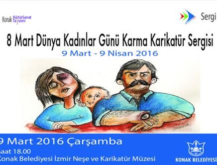 8 Mart Dünya Kadınlar Günü Karma Karikatür Sergisi